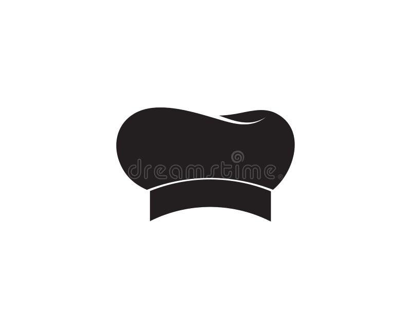 szefa kuchni kapeluszowy logo i symbolu czerni kolor ilustracja wektor