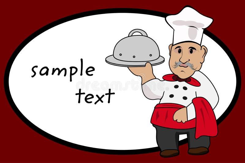 Szefa kuchni kucharz royalty ilustracja