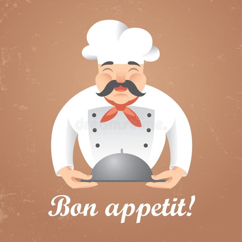 Szefa kuchni kucharz ilustracja wektor