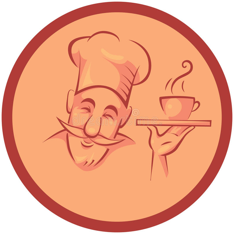 Szefa kuchni kucharz ilustracji