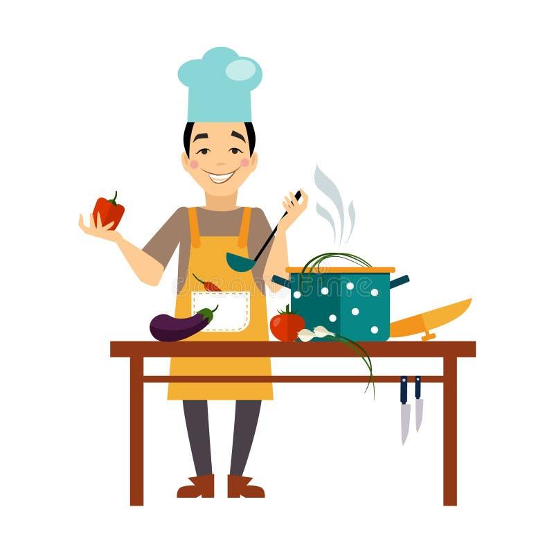 Szefa kuchni Kulinarny jedzenie ilustracji