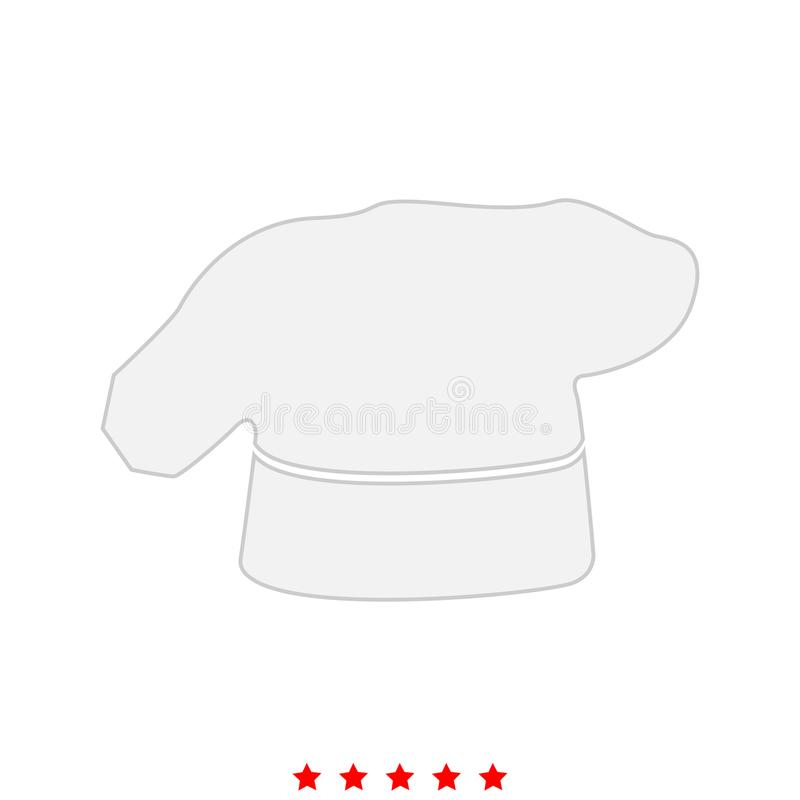 Szefa kuchni kulinarny kapelusz ja jest ikoną royalty ilustracja