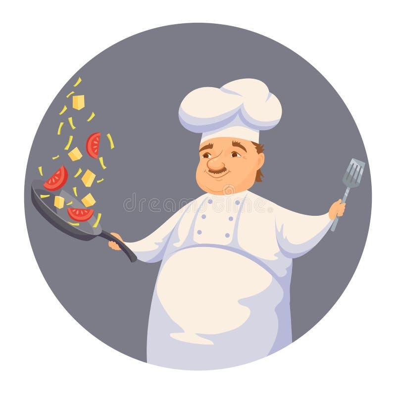 Szefa kuchni kulinarny kumberland ilustracji