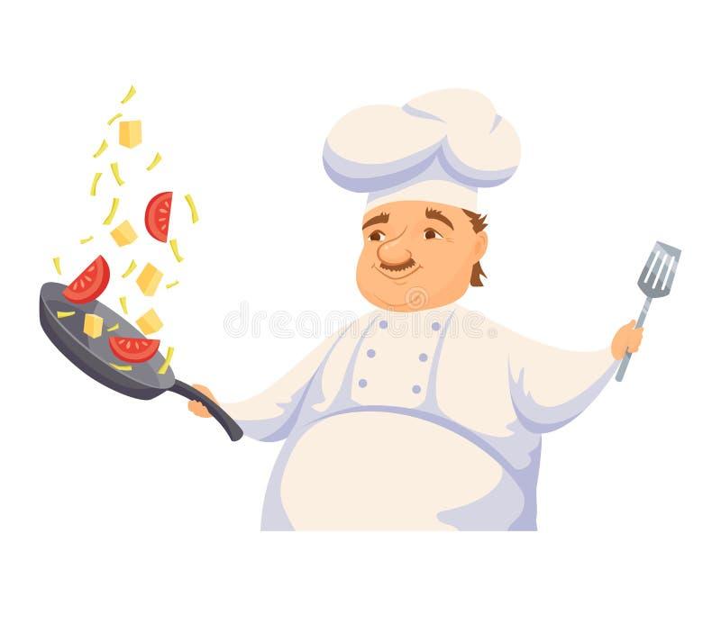 Szefa kuchni Kulinarny makaron ilustracji