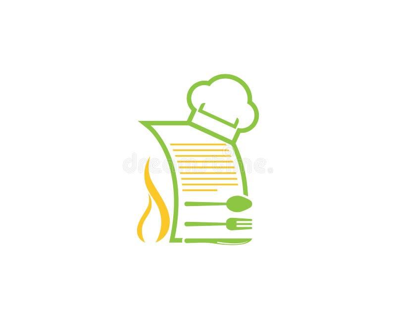 Szefa kuchni kwitu ikony logo wektoru szablon ilustracji