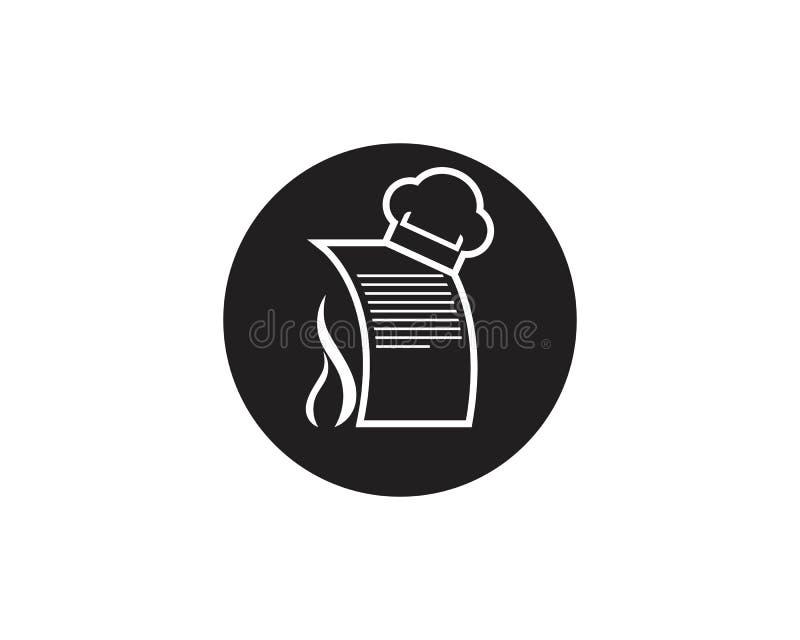 Szefa kuchni kwitu ikony logo wektoru szablon ilustracja wektor