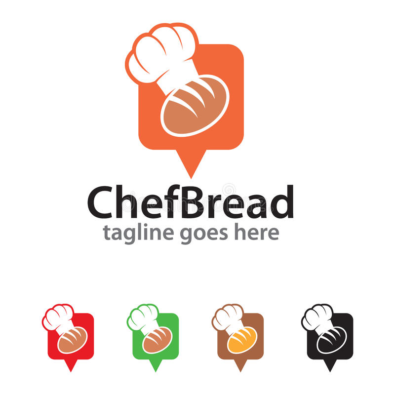 Szefa kuchni loga szablonu projekta Chlebowy wektor royalty ilustracja