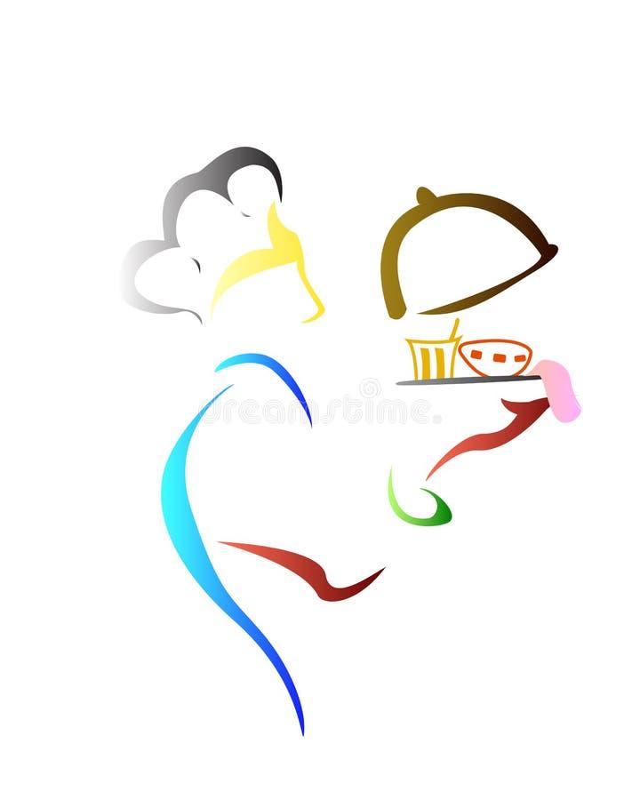 Szefa kuchni logo ilustracja wektor