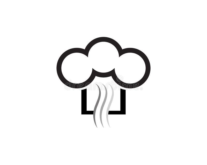 szefa kuchni logo klasycznego kucbarskiego cateringu wektorowy projekt ilustracji