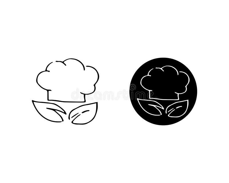 szefa kuchni logo klasycznego kucbarskiego cateringu wektorowy projekt ilustracja wektor