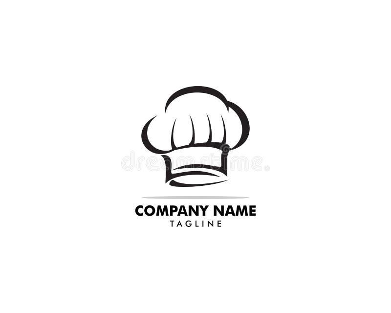 Szefa kuchni logo projekta Kapeluszowy szablon royalty ilustracja