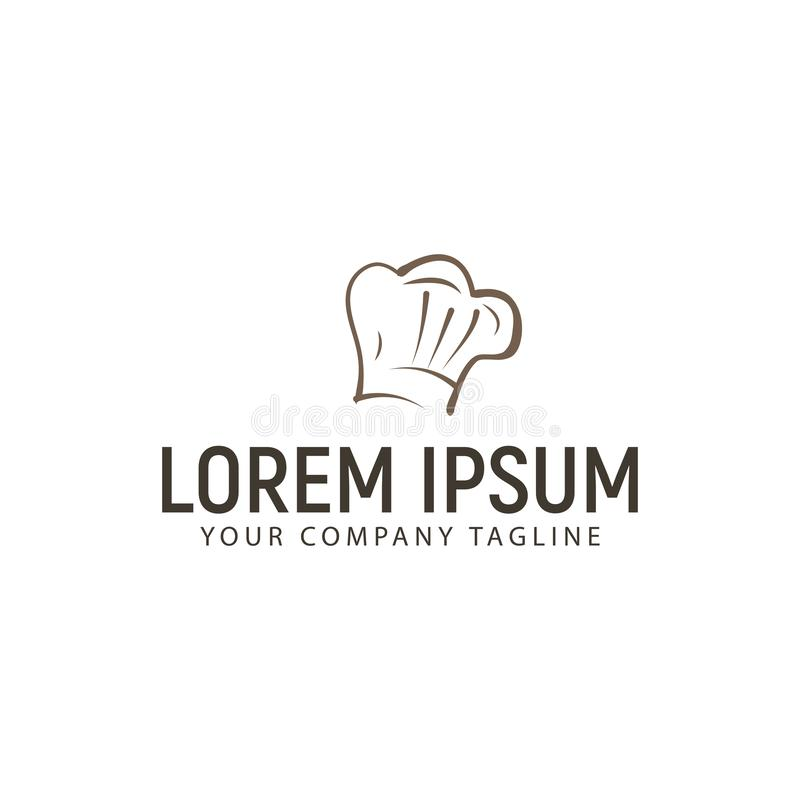 Szefa kuchni logo projekta pojęcia kapeluszowy szablon ilustracja wektor