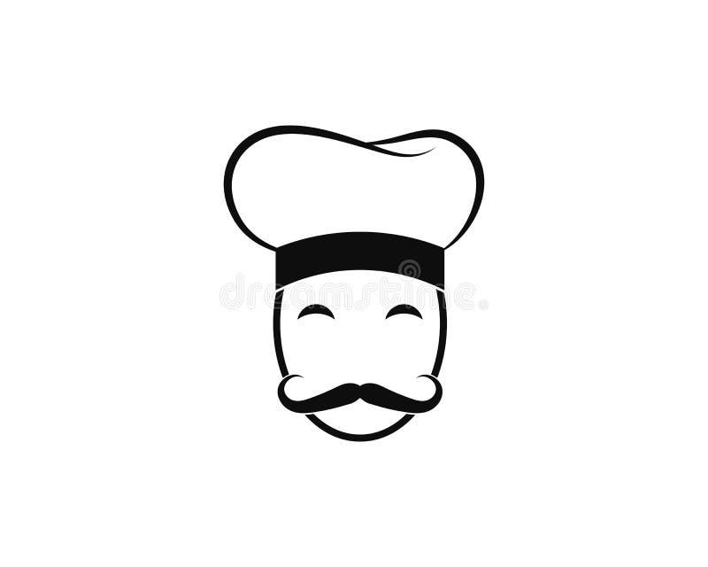 Szefa kuchni logo szablonu wektoru ikona royalty ilustracja