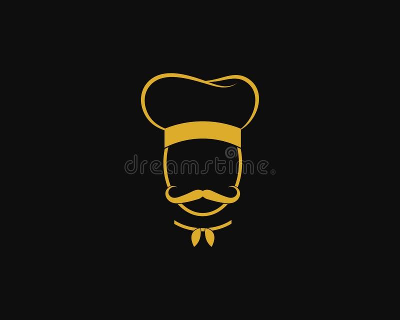 Szefa kuchni logo szablonu wektoru ikona ilustracja wektor