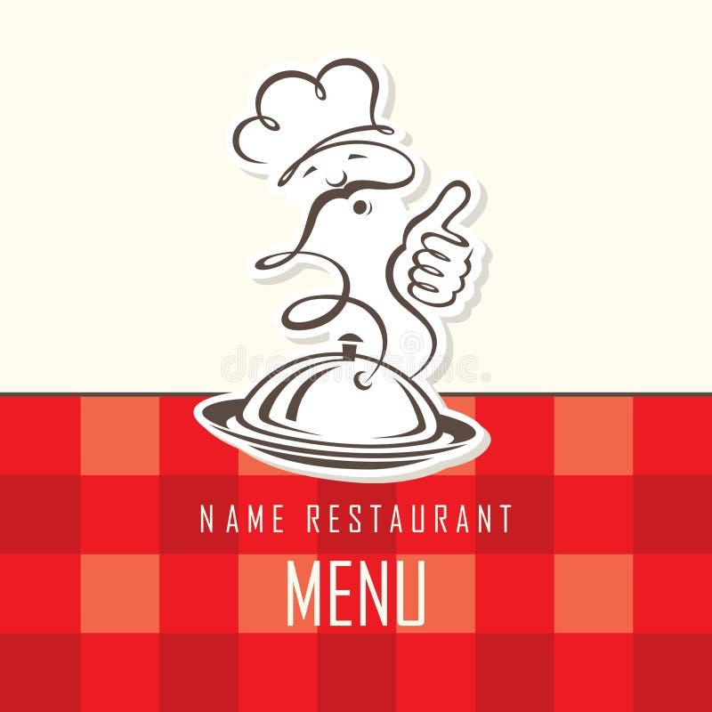 Szefa kuchni menu projekt ilustracja wektor