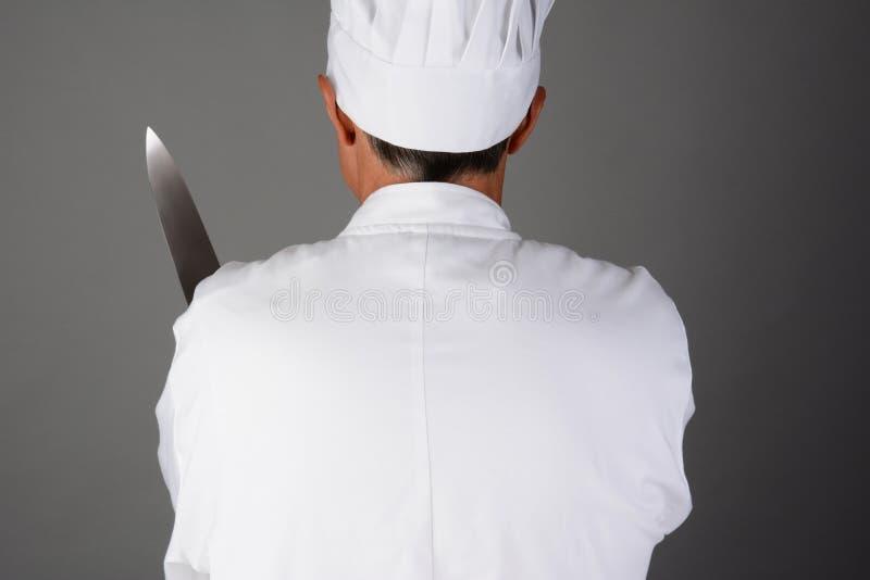 Szefa kuchni mienia nóż zdjęcia royalty free