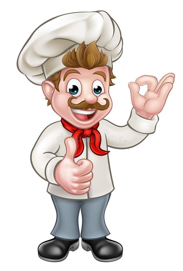Szefa kuchni postać z kreskówki maskotka ilustracja wektor