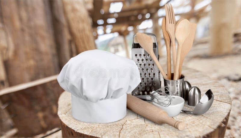 Szefa kuchni ` s kapelusz fotografia royalty free