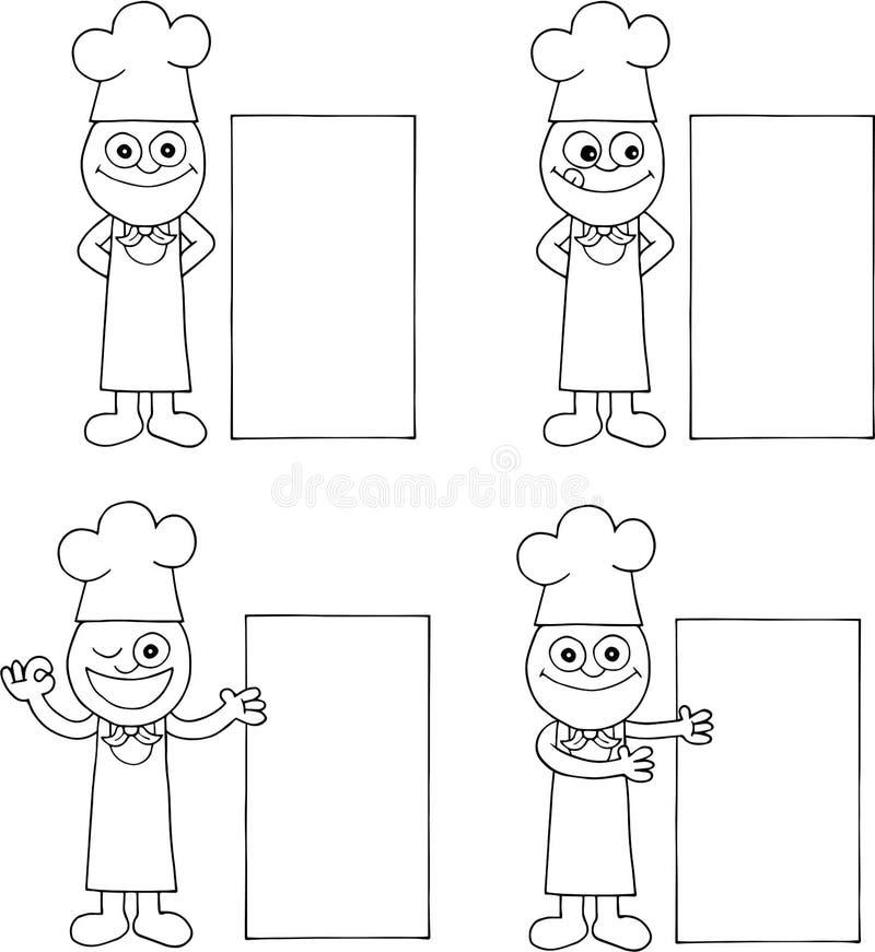 Szefa kuchni set ilustracji