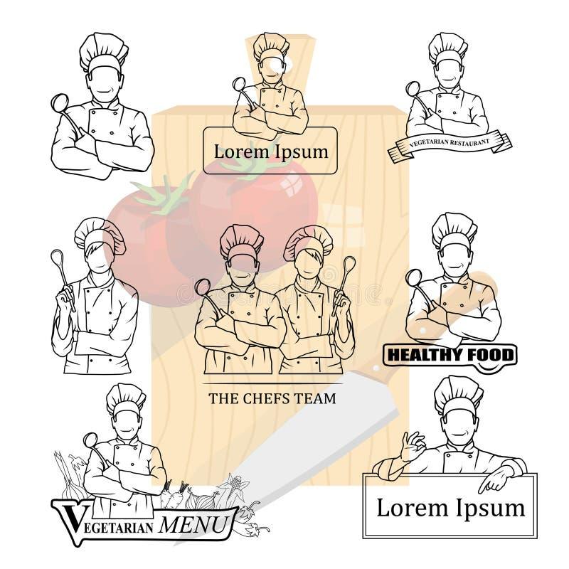 Szefa kuchni set royalty ilustracja
