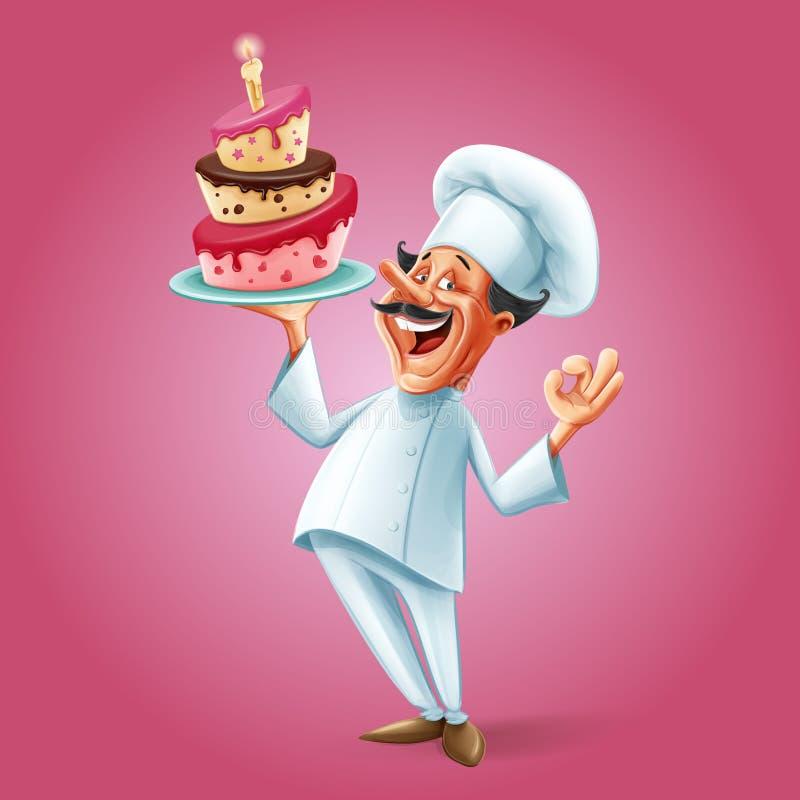 Szefa kuchni sztandar royalty ilustracja