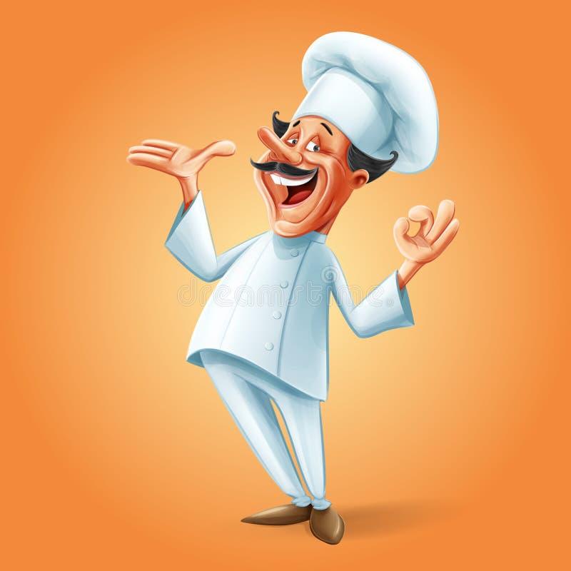Szefa kuchni sztandar ilustracja wektor