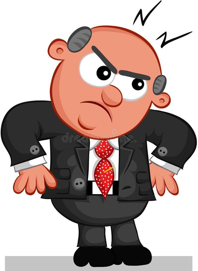 Szefa mężczyzna Gniewny ilustracja wektor