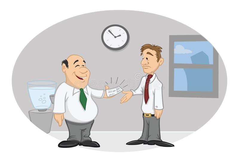 szefa pracownika czek z wypłatą ilustracja wektor