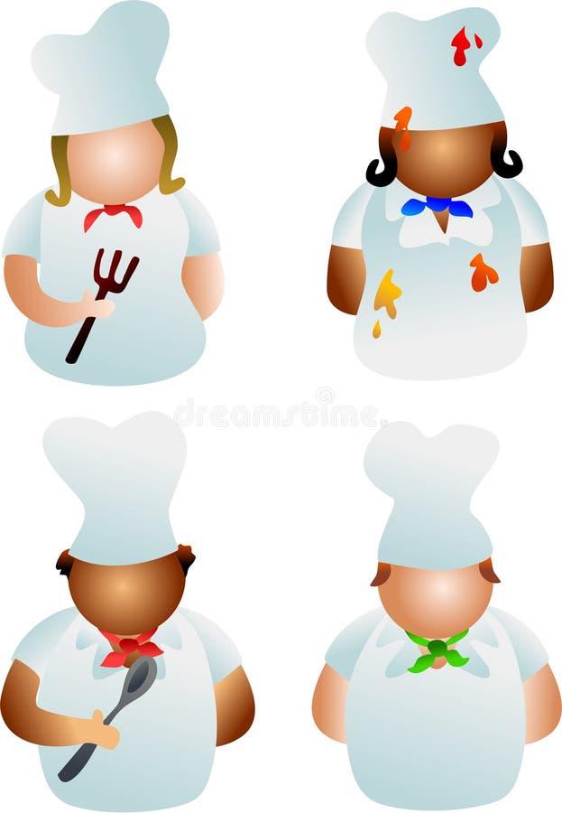 szefowie kuchni ilustracji