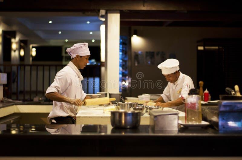 Szefowie kuchni przy pracą obraz stock