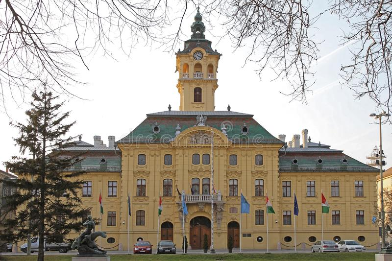 Szeged City Hall. Szeged, Hungary - March 11, 2011: City Hall Neo Baroque Palace Landmark From 1728 in Szeged, Hungary stock images