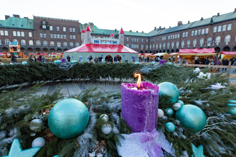 Szeged Hungar Advent Christmas Market imagens de stock