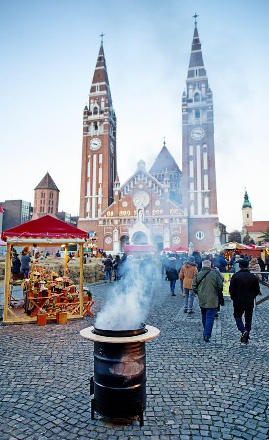 Szeged, Hungria Advent Christmas Market foto de stock royalty free
