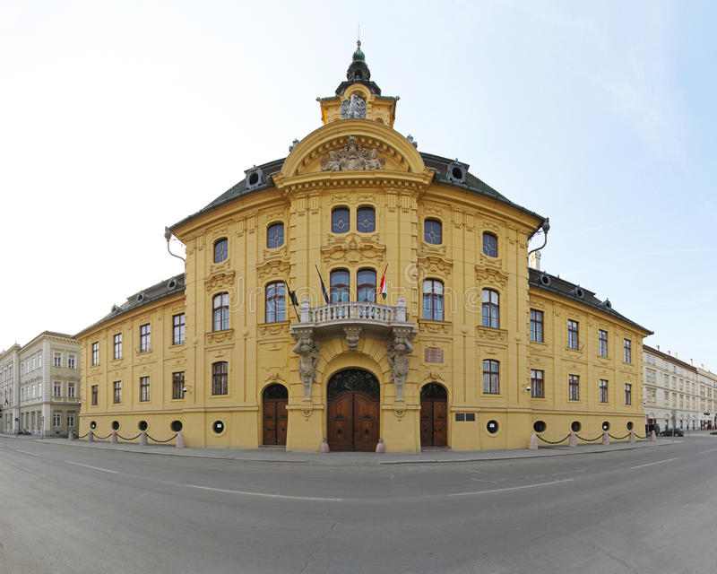 Szeged stadshus royaltyfri foto