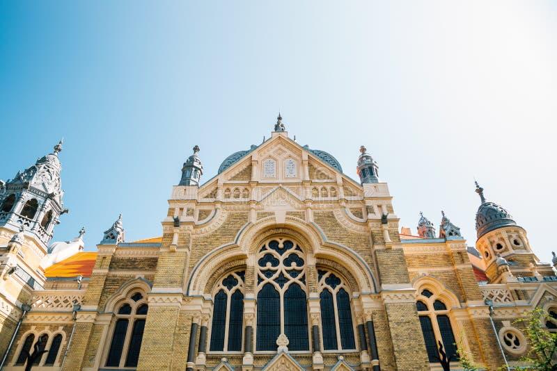 Szeged Synagogue i Szeged, Ungern royaltyfria bilder