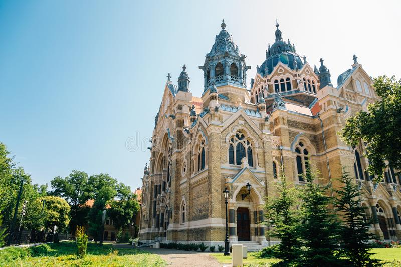 Szeged Synagogue i Szeged, Ungern royaltyfri bild