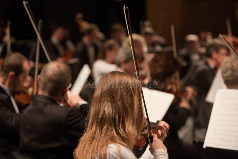 The Szegedi Symphonic Orchestra performs royalty free stock photos