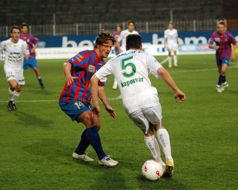 Download Szekesfehervar - Kaposvar Soccer Game Editorial Stock Image - Image of ball, foot: 16452099