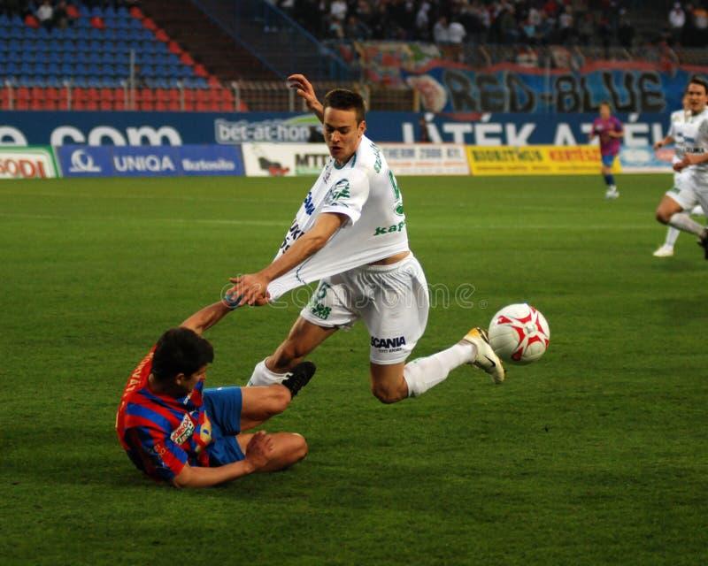 Szekesfehervar - kaposvar soccer game royalty free stock photo