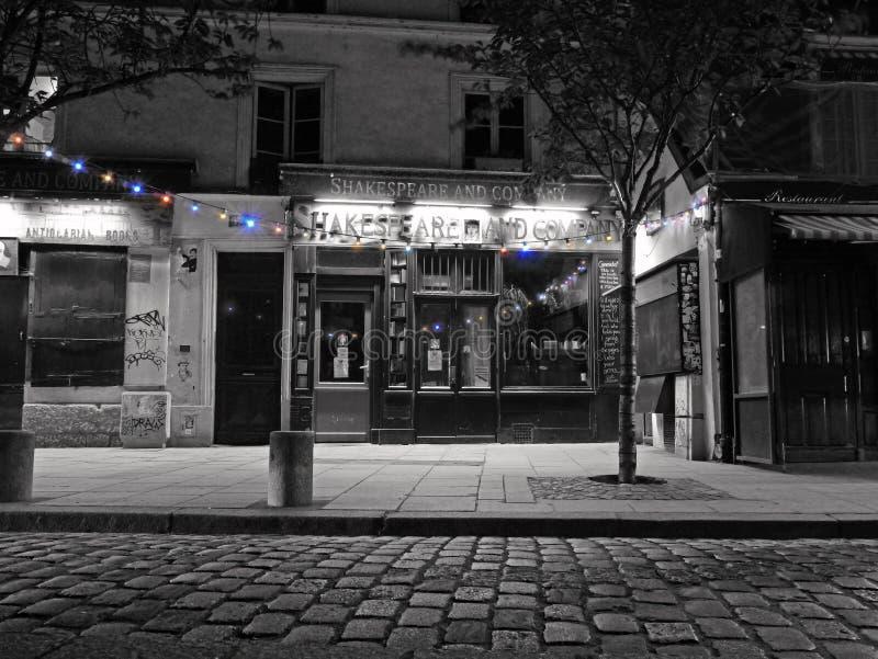 Szekspir i Firma - światu Sławny Francuski Książkowy sklep obrazy stock