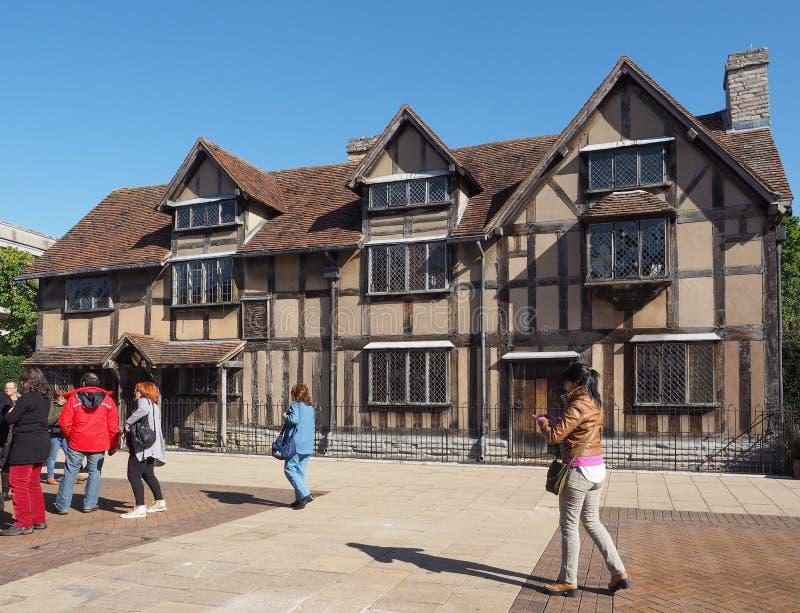 Szekspir miejsce narodzin w Stratford na Avon fotografia stock
