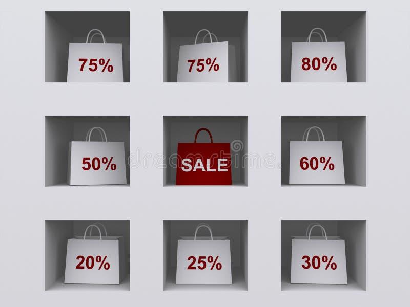szelfowego torby na zakupy ilustracja wektor
