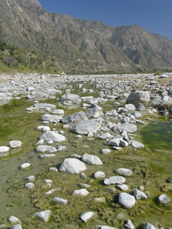 Szene Indien-- Fluss stockfotografie