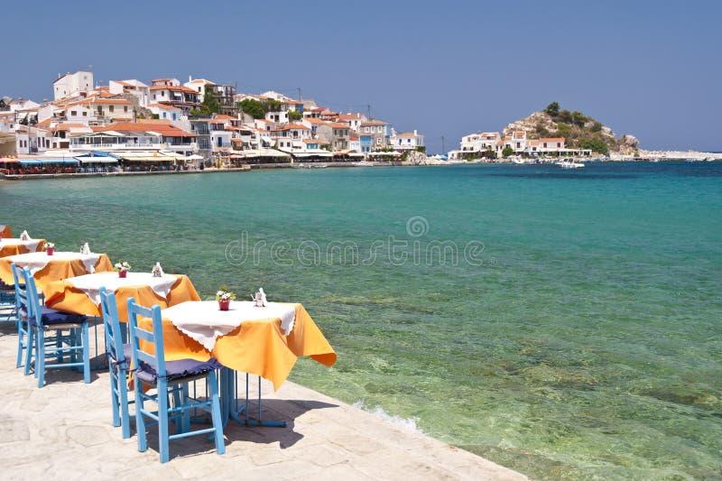 Szene in Kokkari auf Samos lizenzfreies stockbild