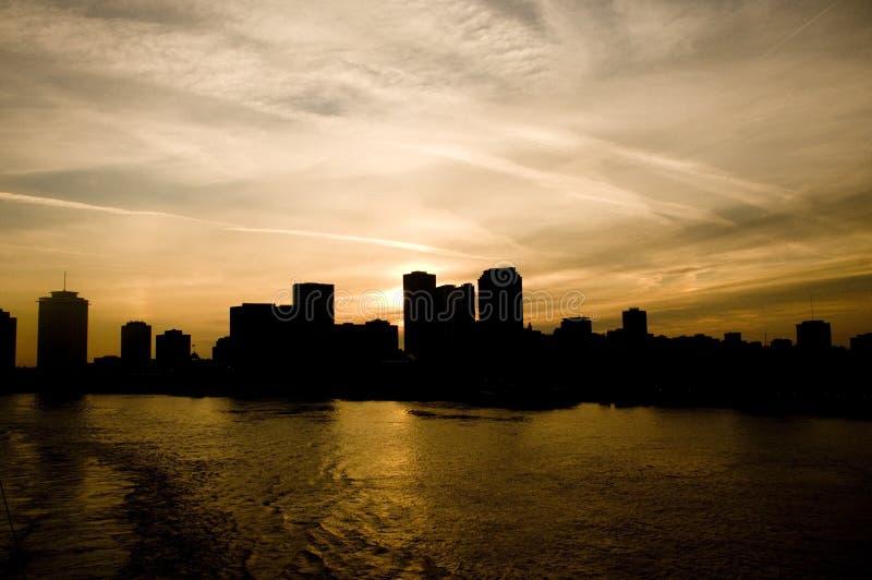 Szene vom Fluss Mississipi neu stockbilder