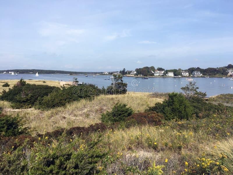 Szene vom Uhr-Hügel im Westerly, Rhode Island stockbilder