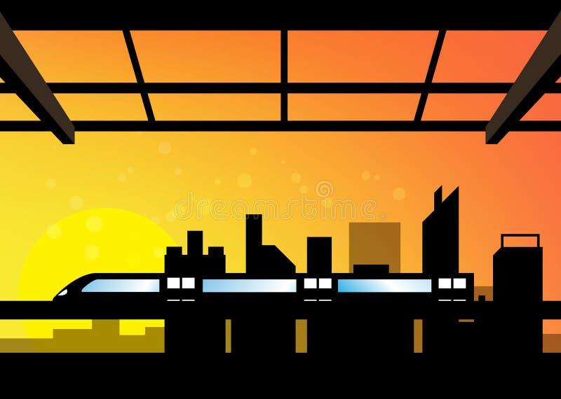 Szene von Stadtbild stock abbildung