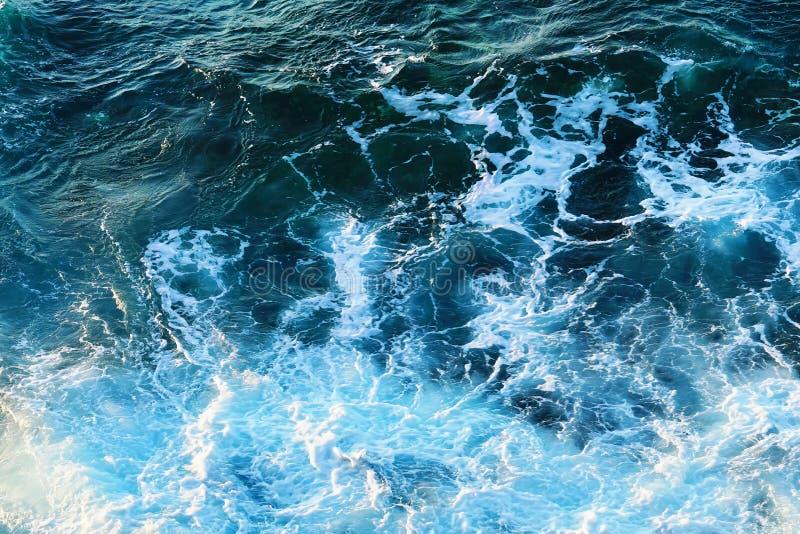 Szene von Wellen und von Seeschwamm lizenzfreie stockbilder