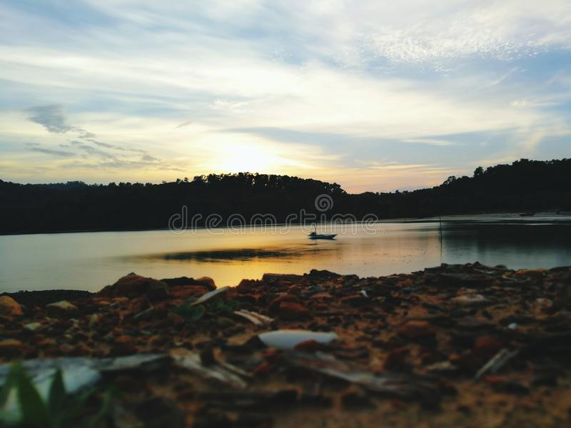 Szenen des Sonnenuntergangs stockbild