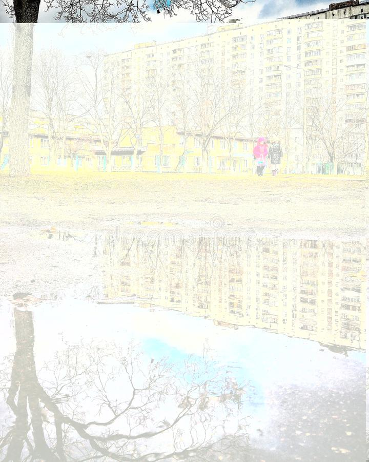 Szenen von Kiew auf dem Fluss stockfotos